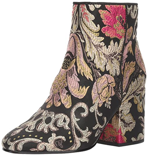 Sam Edelman Women's Taye Ankle Boot, Black/Multi Venezia Metallic Jacquard, 8.5 Medium US