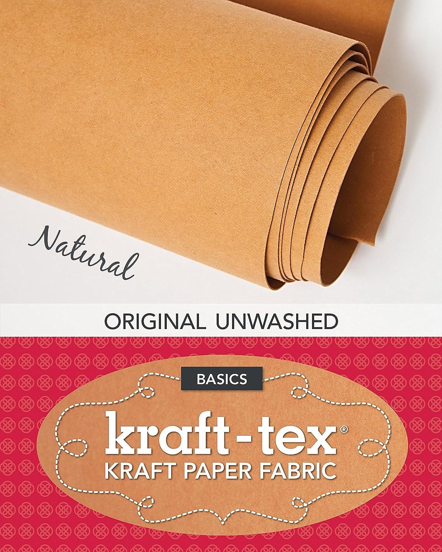 "kraft-tex Natural Original Unwashed: Kraft Paper Fabric, 19"" x 1.5 Yard Roll C&T Publishing 19"" x 1.5 Yard Roll 20211 Handicrafts"