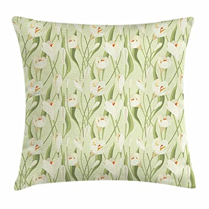 Amazon Com Garden Art Throw Pillow Cushion Cover Spring Flowers