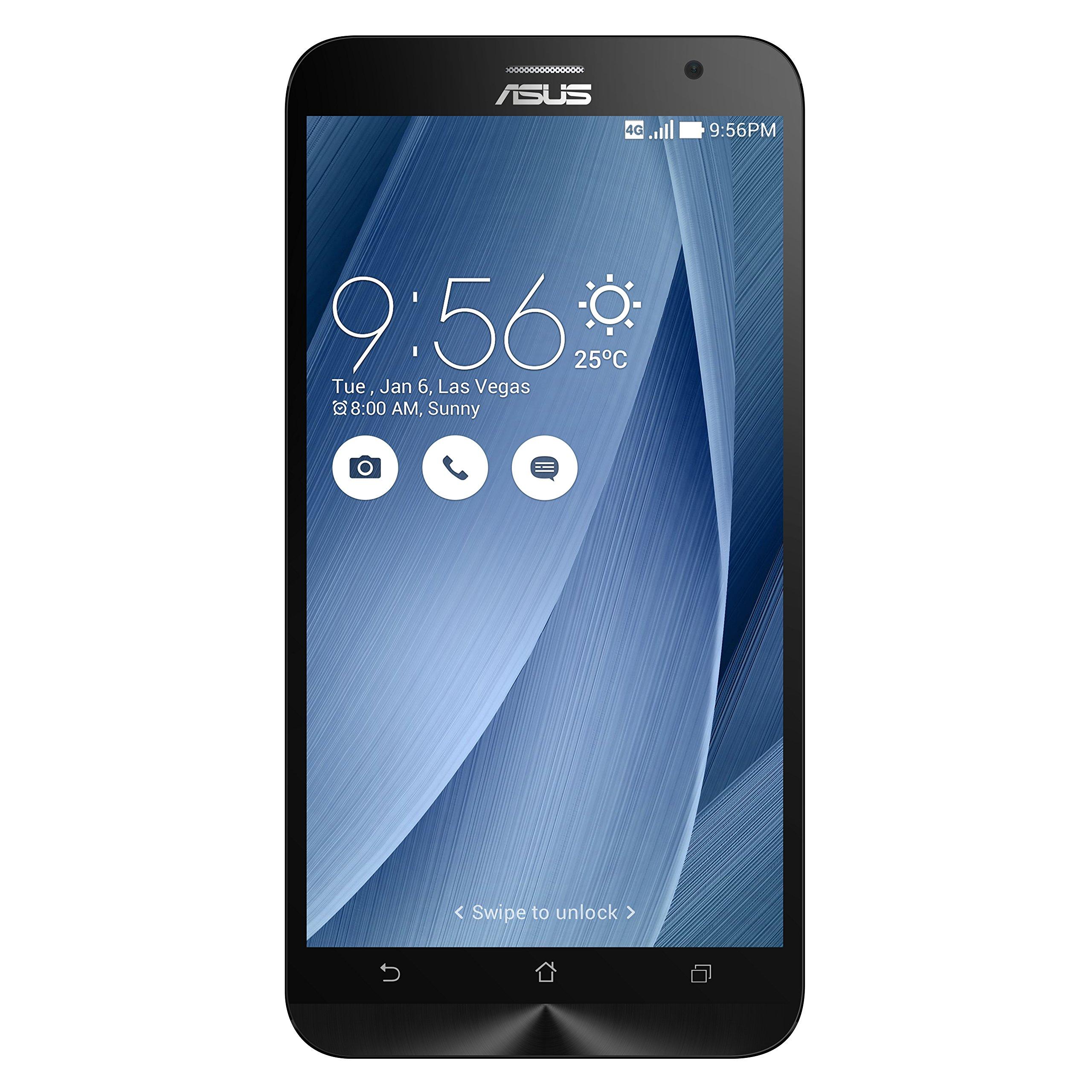 ASUS ZenFone 2 Unlocked Smartphone, 16GB, Silver (U.S. Warranty)