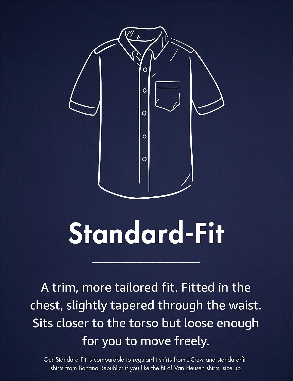 Brand Goodthreads Mens Standard-fit Short-Sleeve Solid Oxford Shirt W//Pocket
