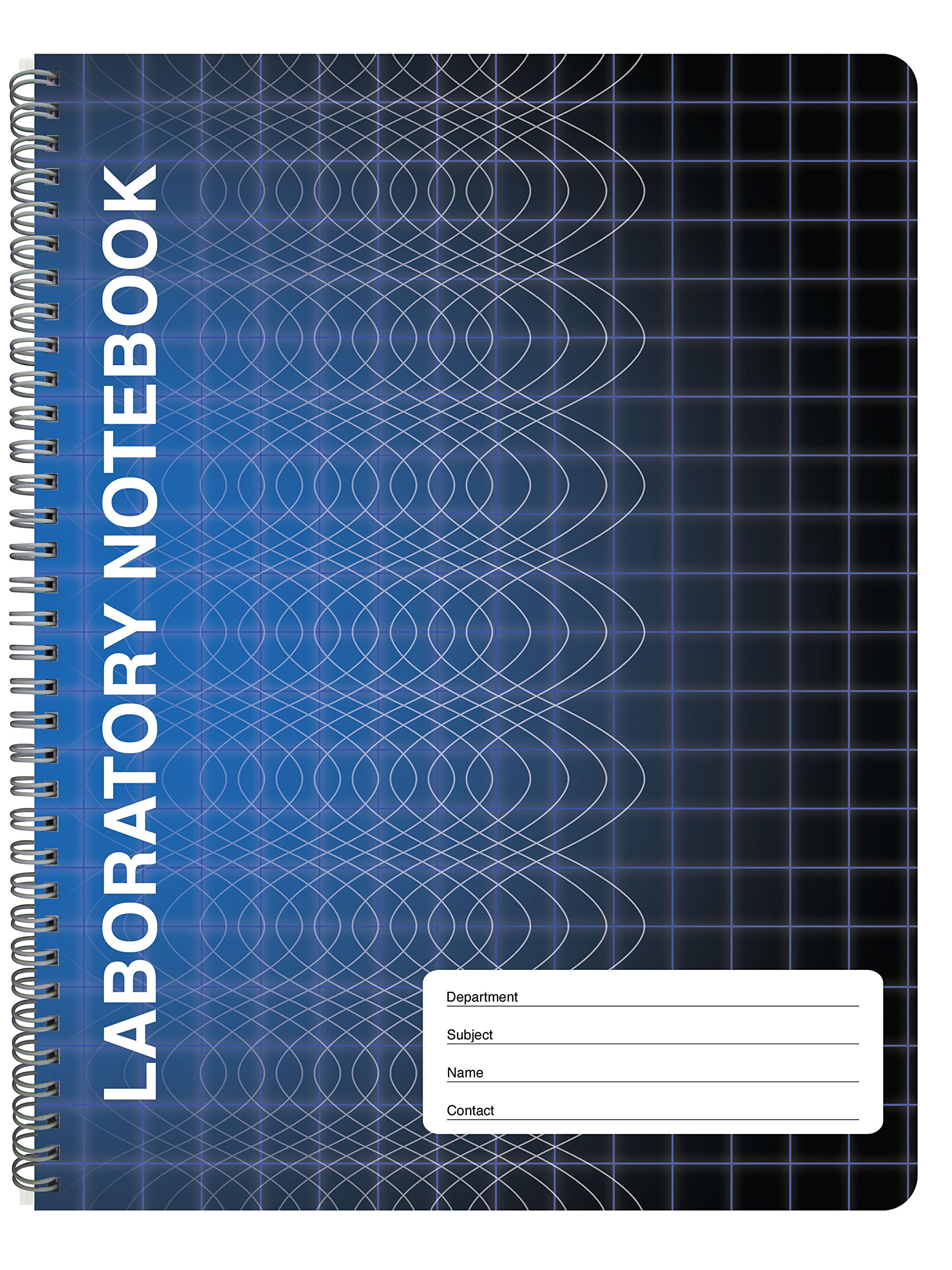 BookFactory Computation Lab Notebook - 100 Pages (9 1/4'' X 11 3/4'') - Scientific Grid Pages, Durable Translucent Cover, Wire-O Binding (COMP-100-CWG-A-(Lab)) by BookFactory