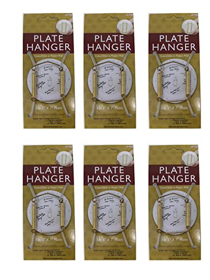 Plate Display Hanger Decorative Expandable Spring Holds 5 to 7 Inch Plates- Gold Wire  sc 1 st  Amazon.com & Amazon.com: Plate Display Hanger Decorative Expandable Spring Holds ...