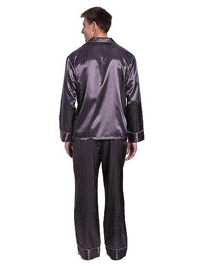 Noble para hombre Premium juego de pijama pijamas de satén - Gris - : Amazon.es: Ropa y accesorios