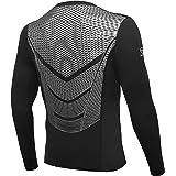 AMZSPORT Camiseta de compresión de Mangas Larga para Hombre Deportes de Secado Rápido Funcionamiento Baselayer