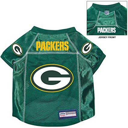 official photos faa40 ee3cb Green Bay Packers Pet Dog Football Jersey Alternate MEDIUM