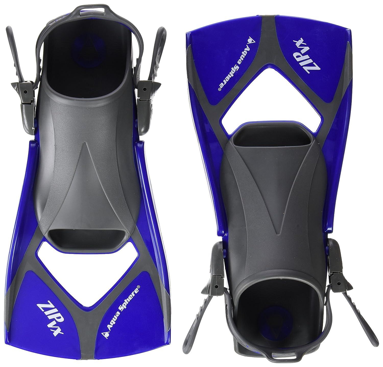 Aqua Sphere Zip VX - Aletas de Entrenamiento para natación, Color Azul, Talla Large/Size 10-13 258260-P