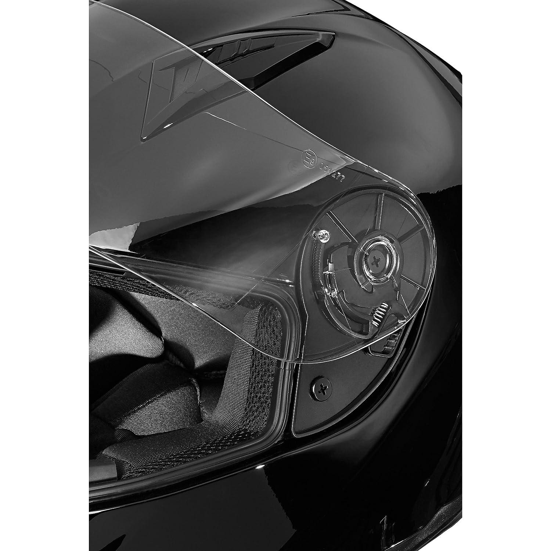 Nexo Motorradhelm Ratschenverschluss klares und kratzfestes Visier Vollvisierhelm Kinnwindabweiser herausnehmbares Komfortpolster Entl/üftung mehrfache Be- XS-XL Nasen- Integralhelm Basic II