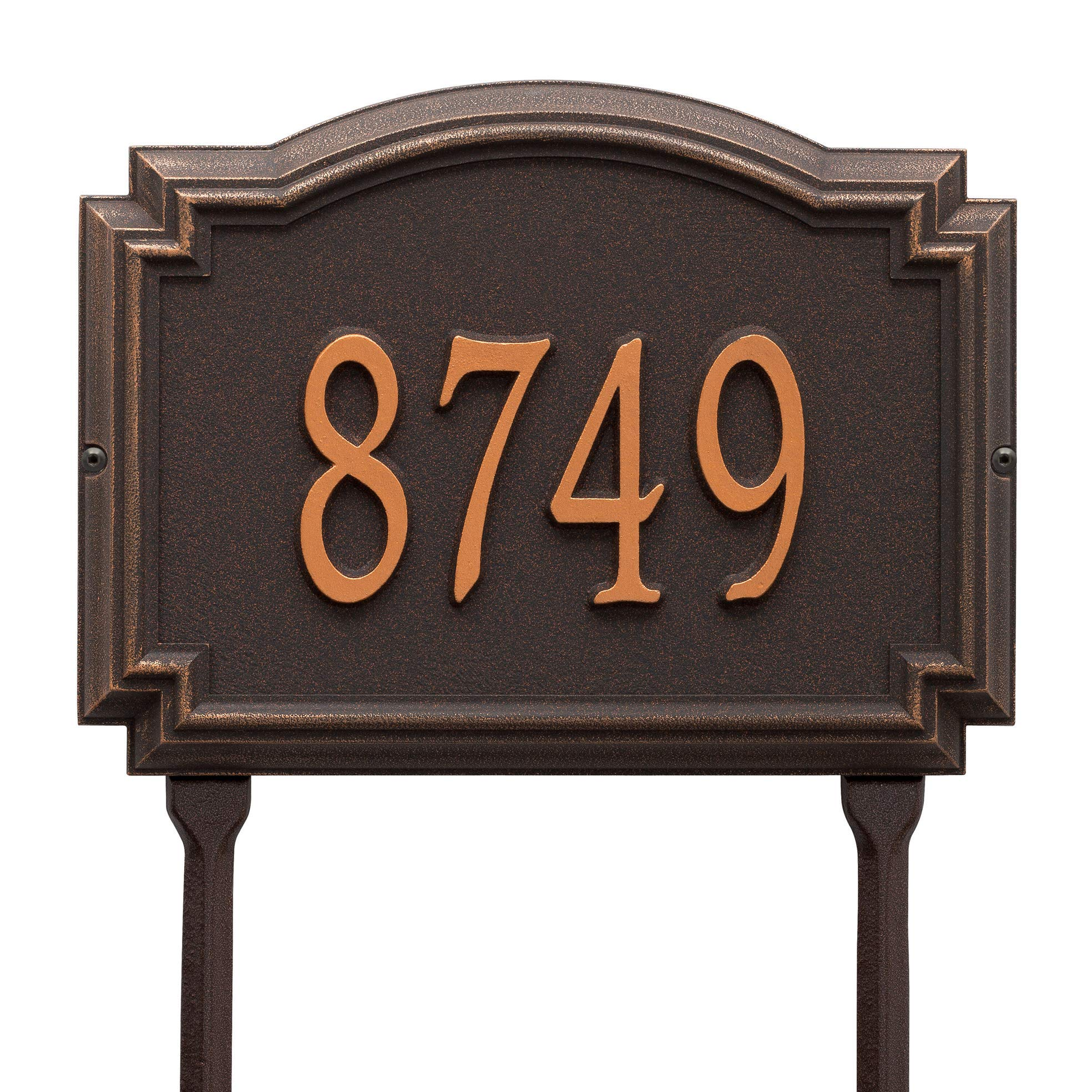 Whitehall Williamsburg Standard Wall Plaque (One Line, Rubbed Bronze)