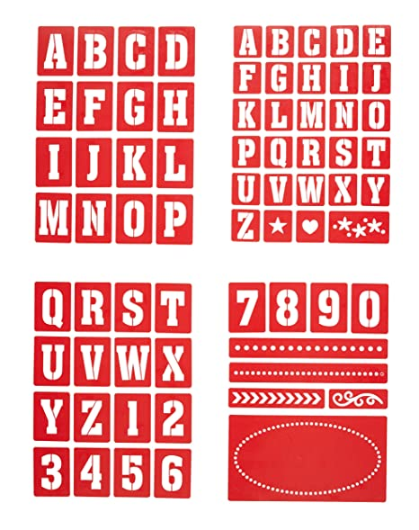 Kitchen Craft Home Made – Plantillas de Números y Letras para Pintura de Vidrio (4