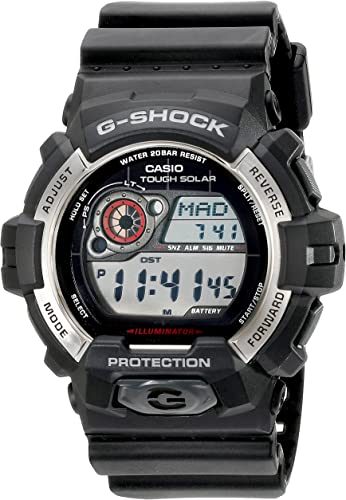Casio Men's GR 8900 1CR Tough Solar G Shock Digital Display Quartz Black Watch