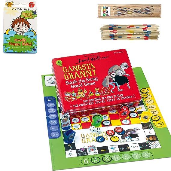 Price Toys David Walliams Colección de Juegos - Gangsta Granny Juego de Mesa y Eliminar Las Ratas! Juego de Cartas (Board Game/Card Game): Amazon.es: Juguetes y juegos
