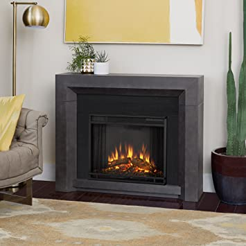 Amazoncom Real Flame 3001e Gry Hughes Electric Fireplace In Gray