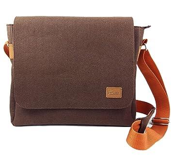4024faccad77d Venetto Herrentasche Messenger Bag Schultertasche Umhängetasche Handtasche  Herren Filztasche Tasche aus Filz mit Echtleder-Applikationen