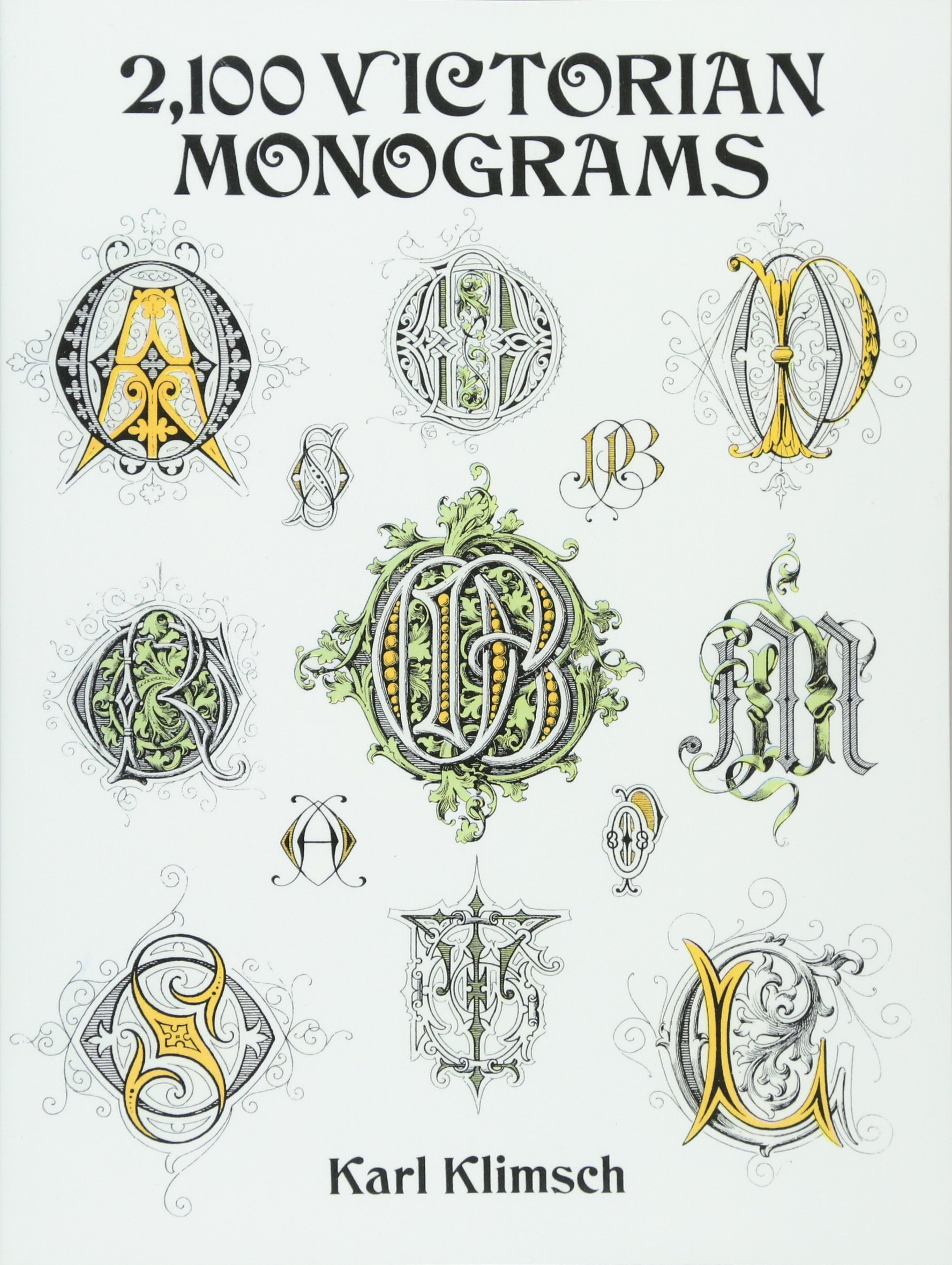 2100 Victorian Monograms  Dover Pictorial Archive Series