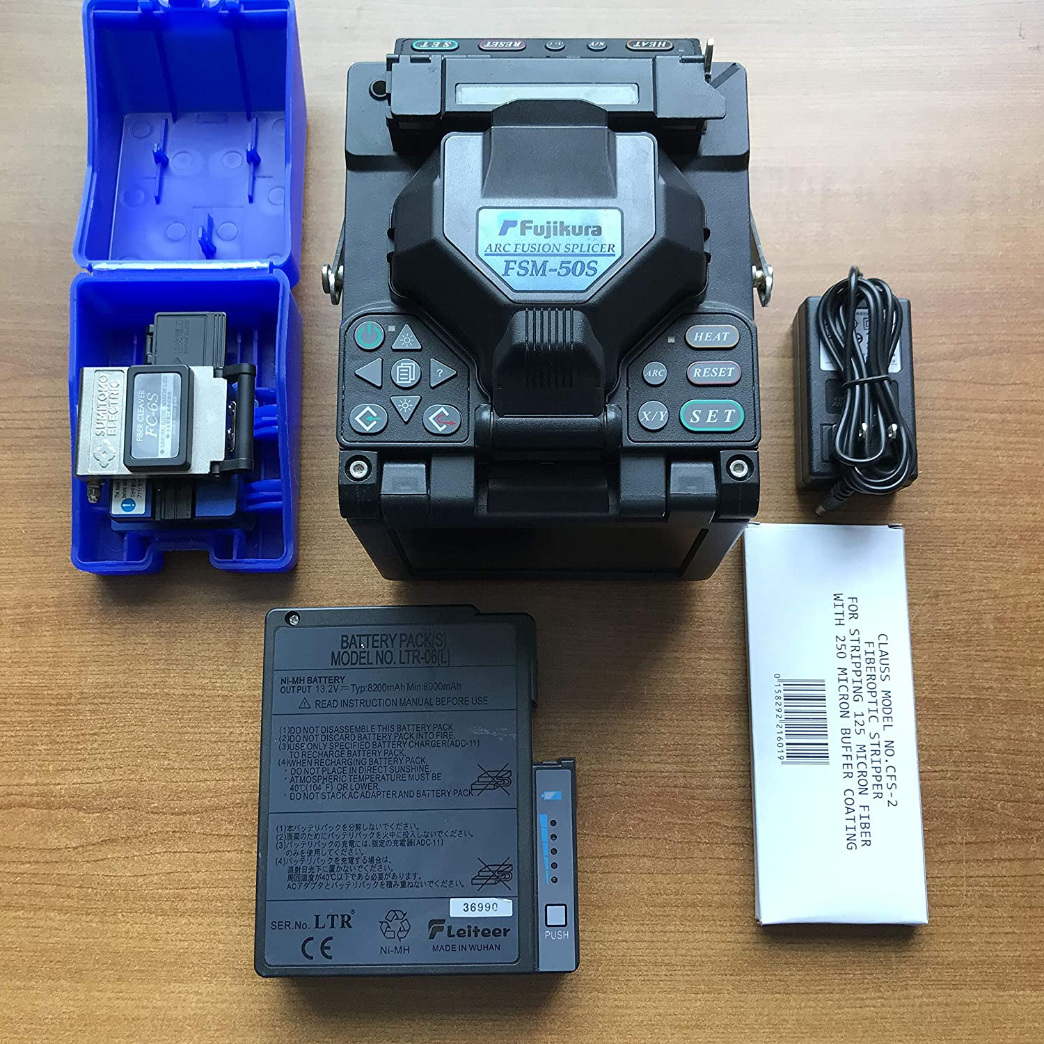 90/% New Fujikura FSM-50S Fusion Splicer Welding Splicer Multi language