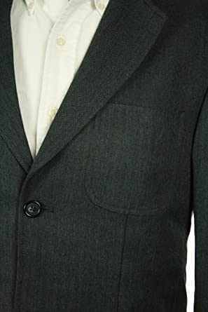 Izod Gray Pinstriped Classic Fit Two Button Blazer Sportcoat 44L