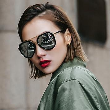 VVIIYJ Gafas de Sol Femeninas Cara Redonda Gafas de Sol ...