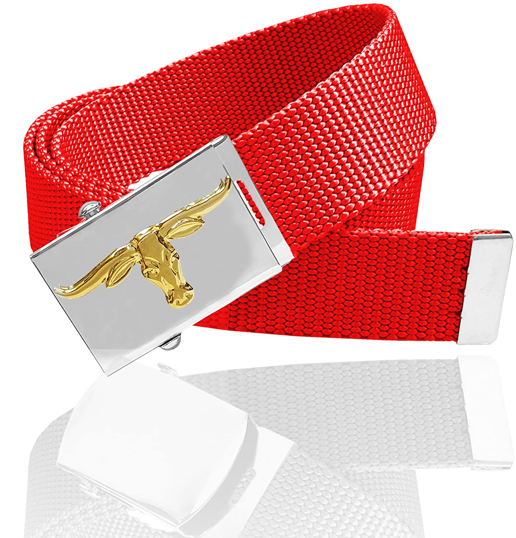 Luna Sosano 1.25 /& 1.5 Heavy Duty Canvas Web Belt With Decoration