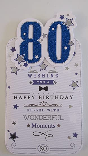 Mens 80 80th Birthday Card