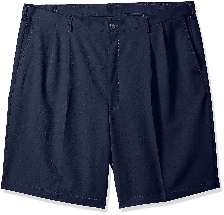 Haggar Mens Big-Tall B&t Cool 18 Pro Classic Fit Stretch Pleatfront Short Haggar Men's Bottoms HS90439