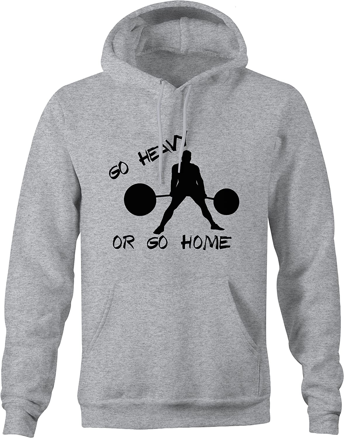 Lifestyle Graphix Go Heavy Or Go Home Gym Powerlifting Training Workout Hoodies for Men