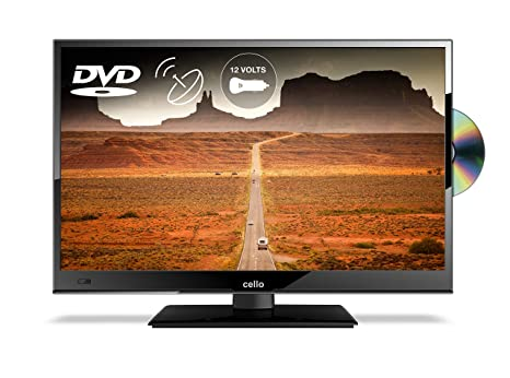 """f17e295342f Cello C16230FT2 16"""" Full HD 12-Volt LED TV with built-in DVD Player and  Freeview T2 HD – UK Made  Energy Class A+"""