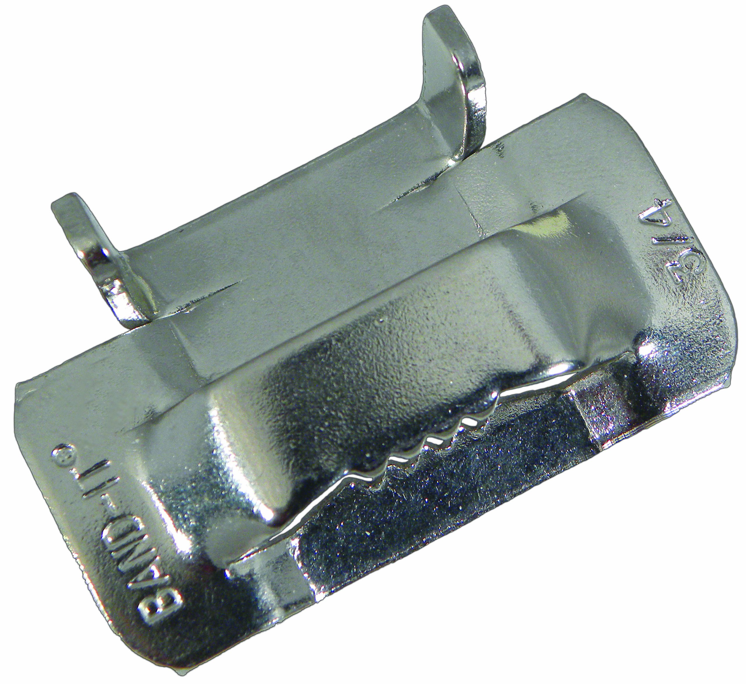 BAND-IT C25699 201/301 Stainless Steel Ear-Lokt Buckle, 3/4'' Width, 100 per Box