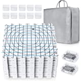 Extra Thick Blocking Mats for Wet and Steam Blocking with Grids Includes 100 t pins and Storage Bag