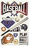 PAPER HOUSE 3D Stickers-Baseball Batter Up