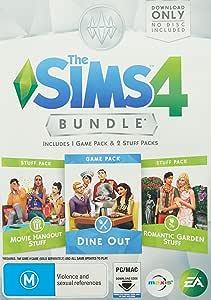 The Sims 4 Bundle Pack (Dine Out, Movie Hangout Stuff, Romantic Garden Stuff) - PC
