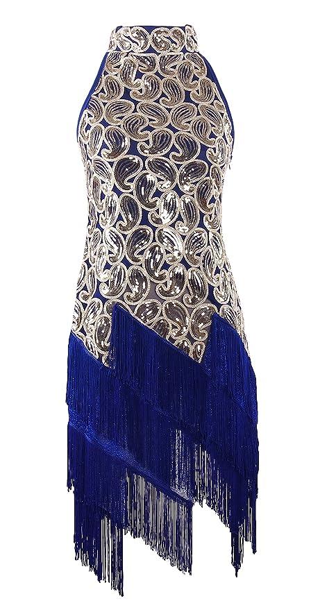 1930s Costumes 1920s Sequined Retro Pattern Flapper Dress Halloween Costume $26.99 AT vintagedancer.com