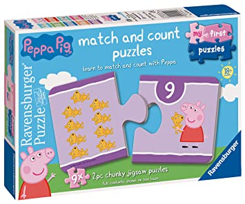 Ravensburger 6999 Peppa Pig - Puzzle (9 x 2 Piezas): Amazon ...