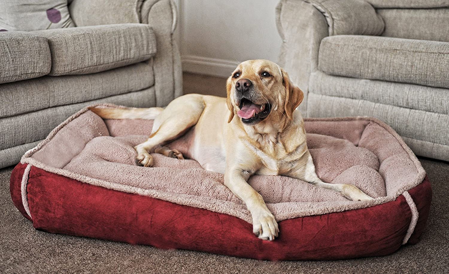 Fleece Cradle Dog Bed Size Extra Large