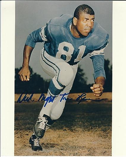 08840a4281a Amazon.com: Autographed Dick Night Train Lane 8X10 Photo - Detroit Lions:  Sports Collectibles