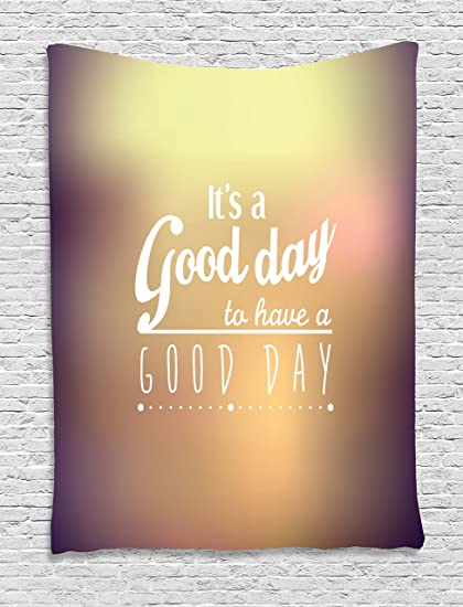 Image of: Motivational Ambesonne Motivational Tapestry Good Day Quote With Encouragement Theme Typography Design Wall Hanging For Amazoncom Amazoncom Ambesonne Motivational Tapestry Good Day Quote With
