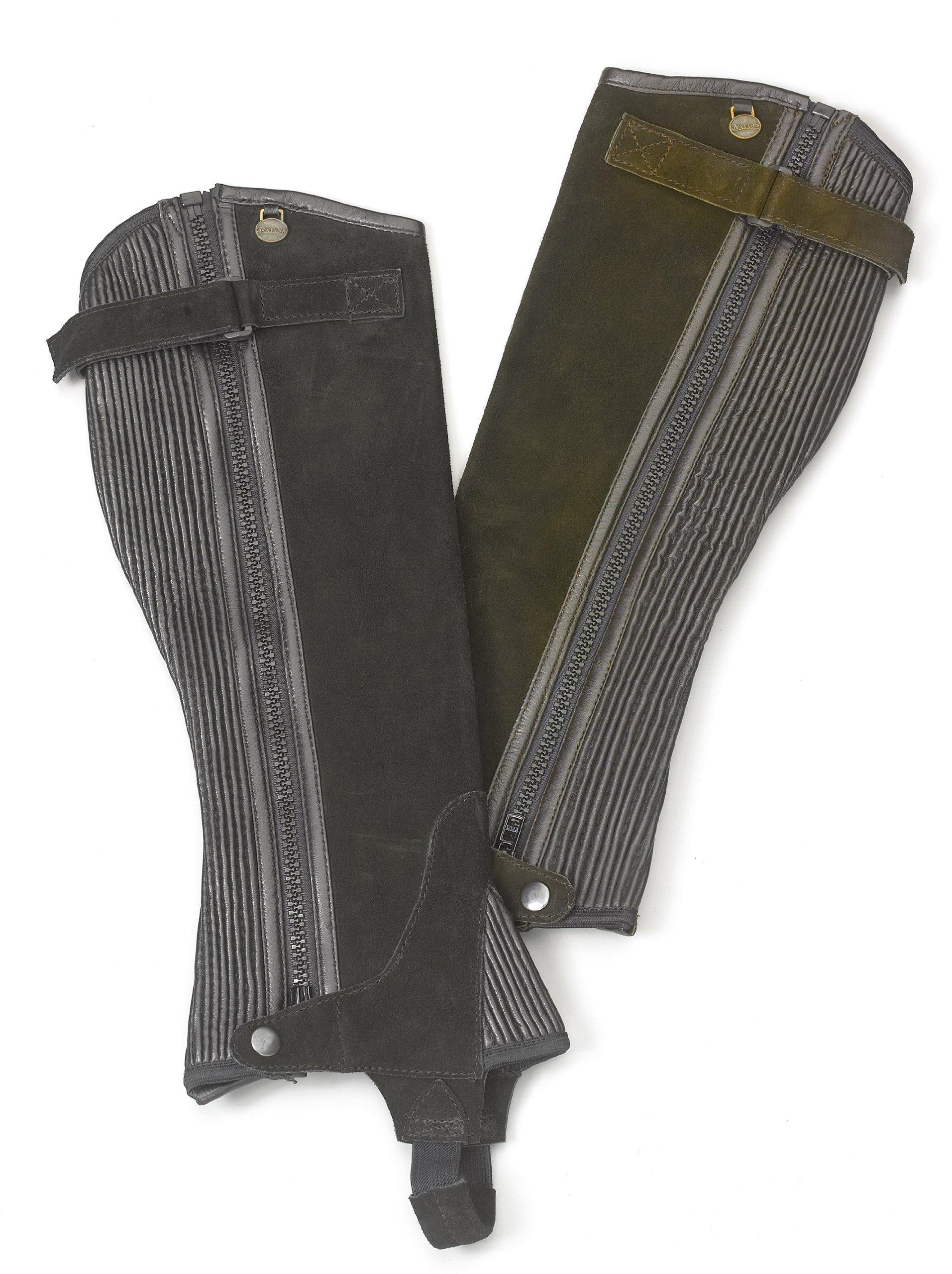 Ovation Pro Suede Ribb Black Half Chap Tall XL