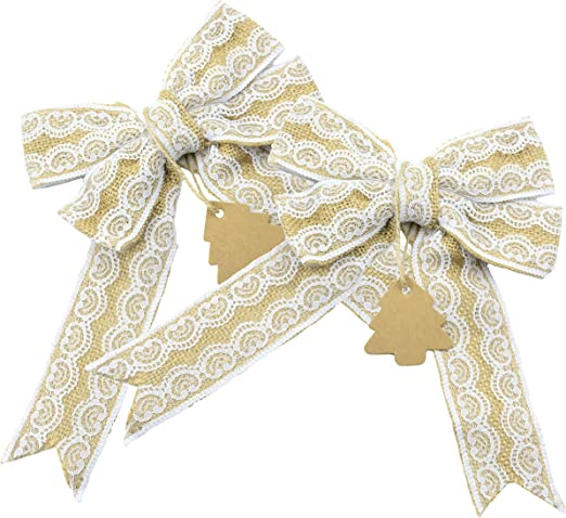 Do-crafts Large Ribbon Bows -Tales from Willson Wood 12pcs