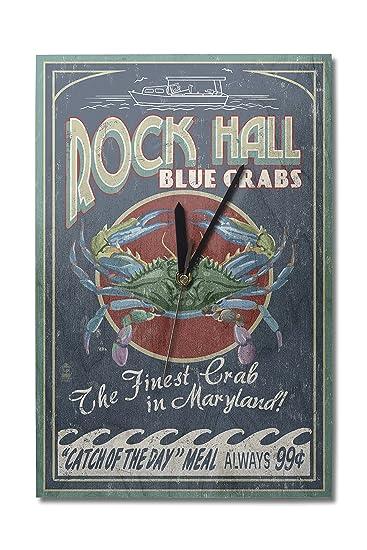 Amazon.com: Lantern Press Rock Hall, Maryland - Blue Crabs ...