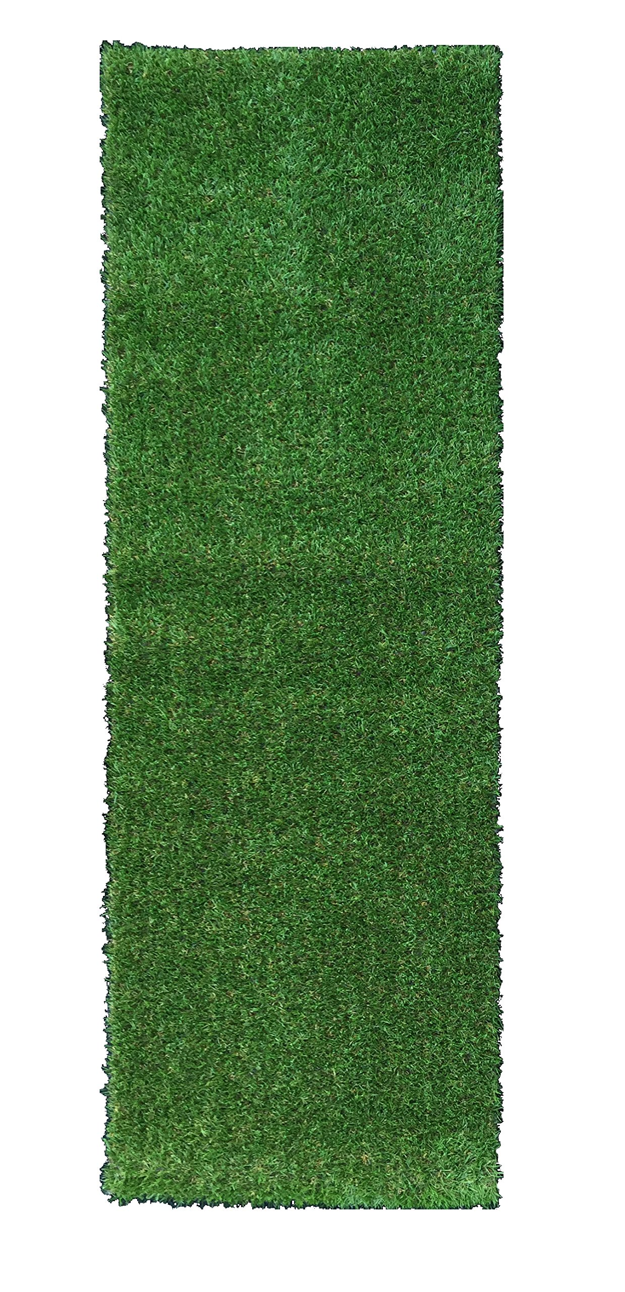 Ottomanson Evergreen Collection Indoor/Outdoor Green Artificial Grass Turf Solid Design Runner Rug, 2'7'' x 8'