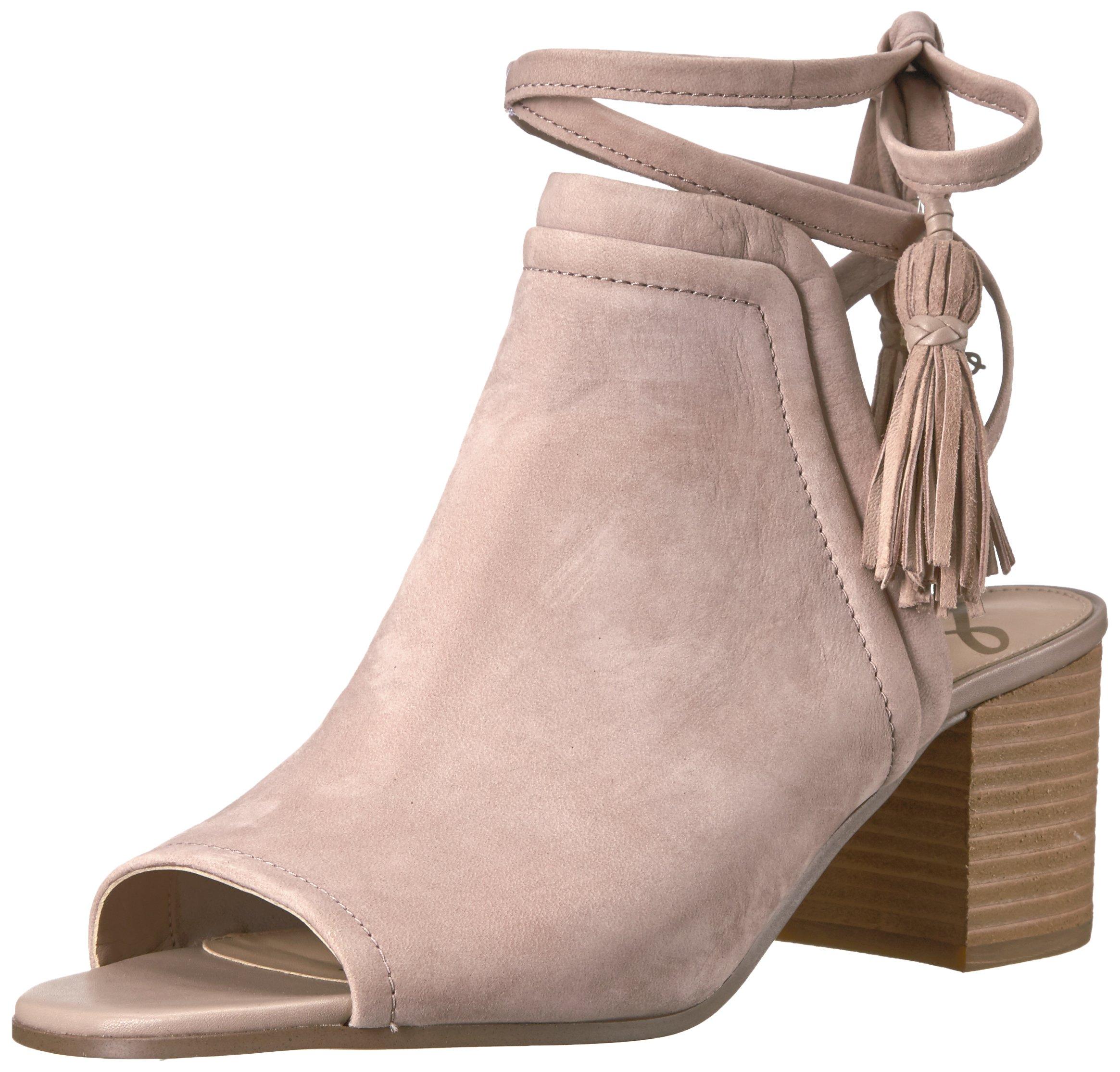 Sam Edelman Women's Sampson Heeled Sandal, Taupe Rose Suede, 8 Medium US