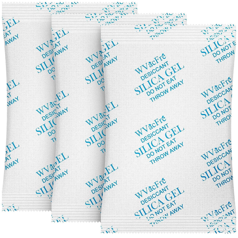 WVacFre 100 Gram(10Packs) Food Grade Moisture Absorber Silica Gel Desiccant Packets for Storage,Desiccant Beads Silica Gel Packs for Moisture Control
