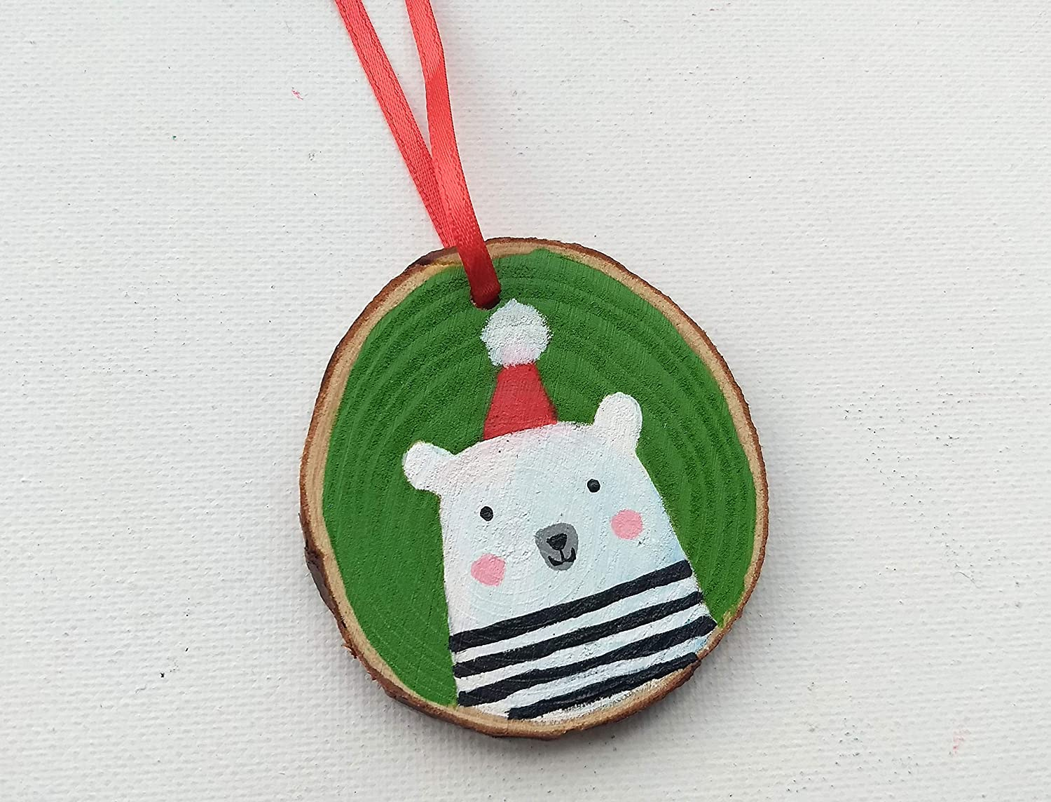 Amazon Com Christmas Ornament Bear Ornament Polar Bear