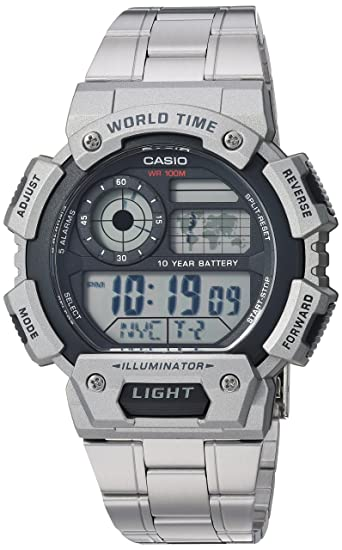 Amazon Com Casio Men S Classic Quartz Watch With Stainless Steel