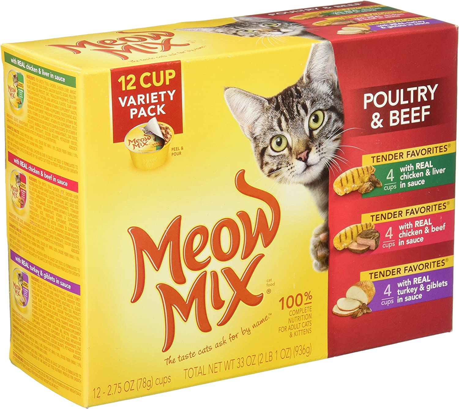 Meow Mix Market Select Variety Pack Moist Cat Food in Gravy (12 Pack)