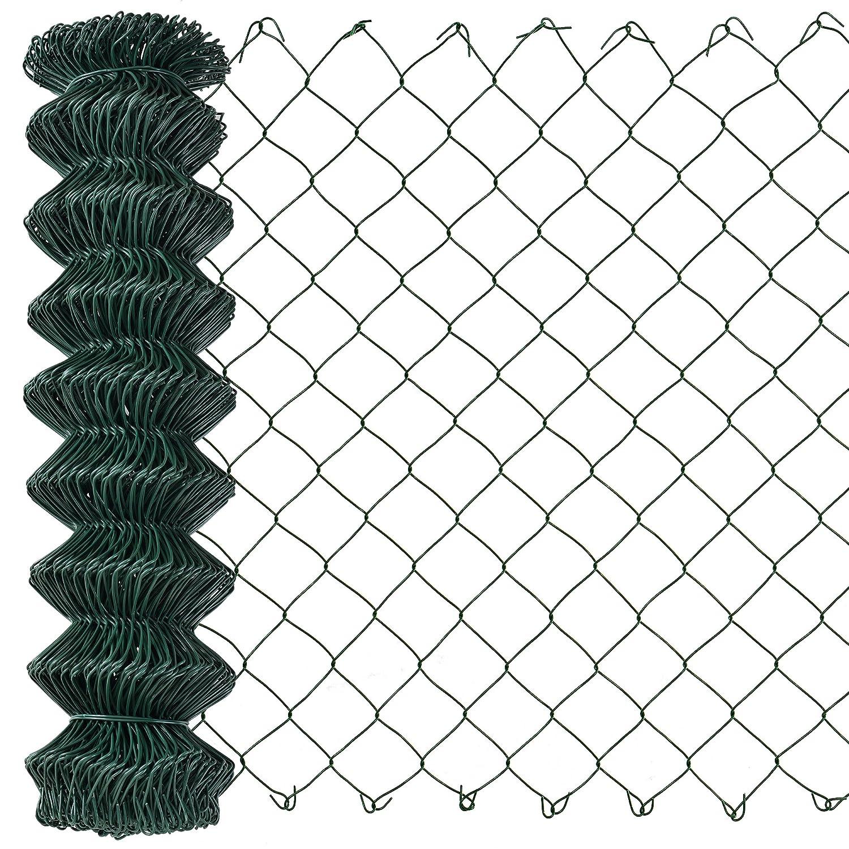 [pro.tec]® Clôture Vert zingué [1, 5m x 15m] Grillage Grillage à Mailles hexagonales