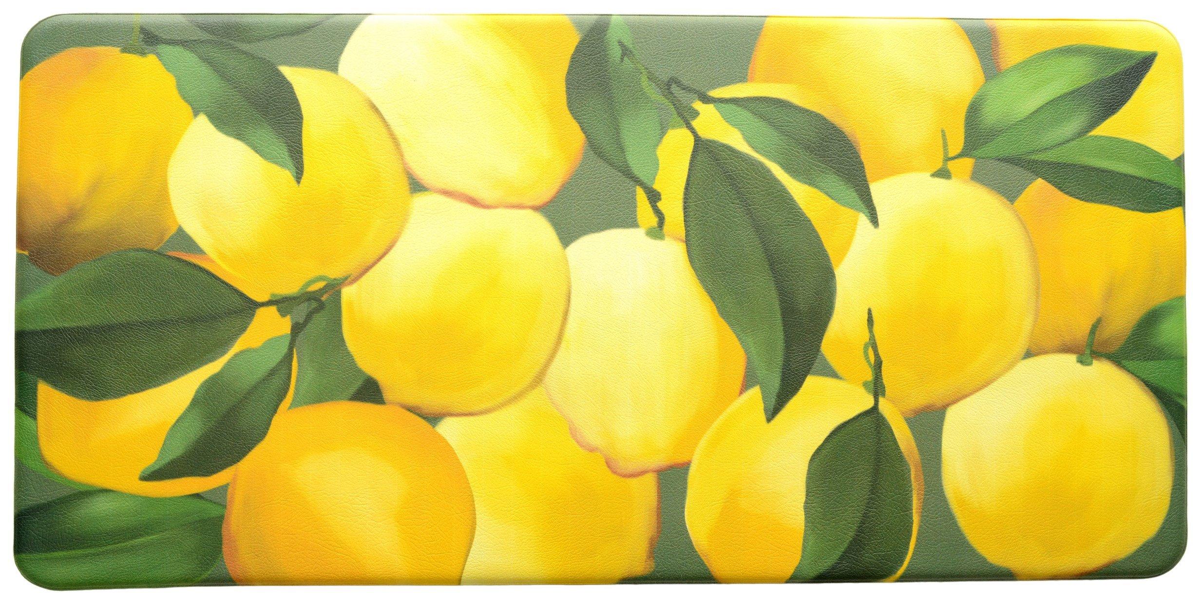 Stephan Roberts Premium Anti-Fatigue Kitchen Mat, 20'' x 39''x.5'', Lemons/Multicolored