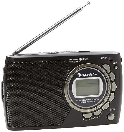 Roadstar tra-2362d 9 Band Radio portátil multibanda con Reloj Digital