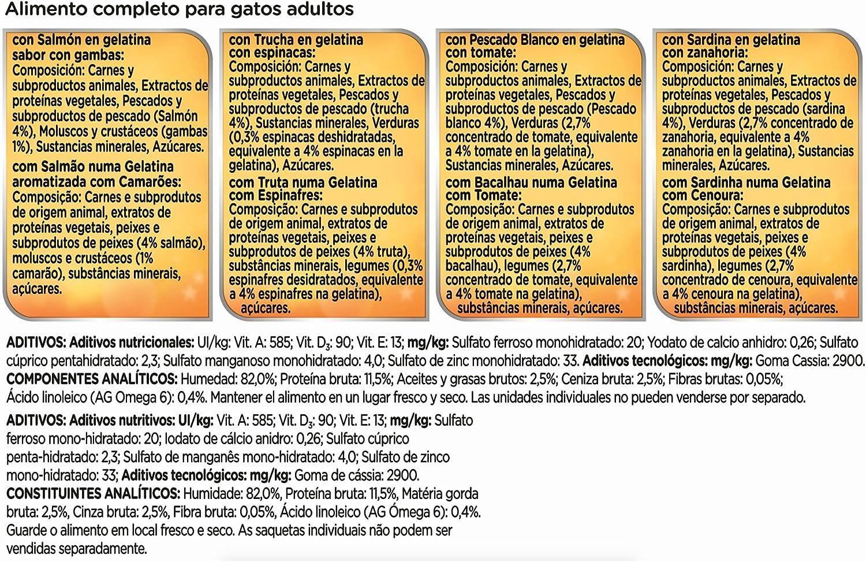 Purina Felix Sensations Crunchy comida para gatos Selección Surtido de Pescados 6 x [12 x 100 g]