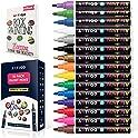 ARTIQO Set of 15 Vibrant Medium tip Oil Paint Marker Pens